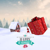 Composite image of christmas message — Stock Photo