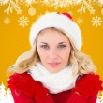 Happy festive blonde — Stock Photo #62470947