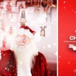 Santa pointing to christmas people collage — Stock Photo #62471935