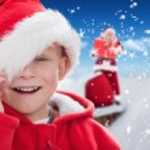Cute boy in santa hat — Stock Photo #62473247