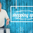 Shocked man holding shopping bags — Stock Photo #62473551
