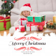 Girl surrounded by christmas gifts — Stock Photo #62473999