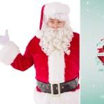 Perplexed santa against green vignette — Stock Photo #62475973