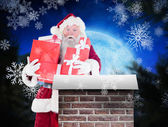 Santa carries few presents — Stock Photo