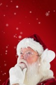 Santa is thinking about something — Stock Photo