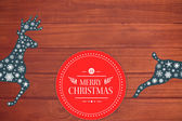 Banner and logo saying merry christmas — Stock Photo