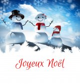 Composite image of joyeux noel — Stock Photo