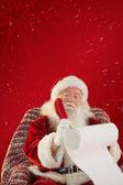 Father christmas writing list — Stock Photo