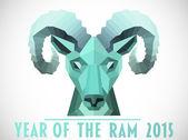 Ram head against white — Zdjęcie stockowe