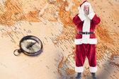 Santa is shocked to camera — Zdjęcie stockowe