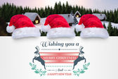 Composite image of colourful banner wishing a happy christmas — Stok fotoğraf