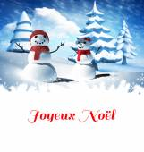Composite image of joyeux noel — Stock Photo