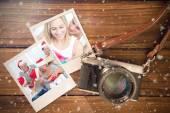 Composite image of christmas memories — Stock Photo