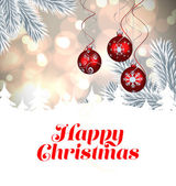 Composite image of christmas card — Stock Photo