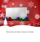 Composite image of christmas greeting in german — Foto Stock