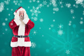 Santa is shocked to camera — Стоковое фото