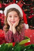 Festive little girl smiling — Stockfoto