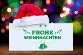Composite image of frohe weinhnachten — Stock Photo