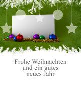 Imagem composta da saudação do Natal em alemão — Fotografia Stock
