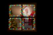Santa is shocked to camera — Fotografia Stock