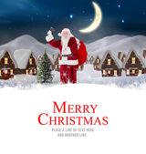 Santa delivery presents to village — Fotografia Stock