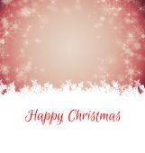 Happy Christmas against white snowflake — Stock Photo