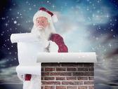 Santa Claus reads list — Stockfoto