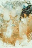 šťastný dědeček řezbářských vánoční turecko — Stock fotografie