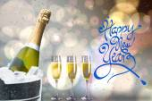 Happy new year message — Stock Photo