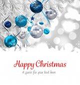 Happy Christmas against christmas decorations — Foto de Stock
