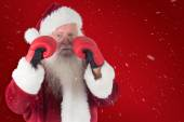 Santa Claus is ready to fight — Foto de Stock