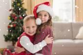 Festive siblings smiling — Stock Photo