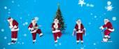 Composite image of different santas — Stock Photo