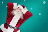Sleeping santa — Stock Photo