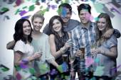 Composite image of friends with drinks — Photo