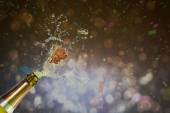 Champagne popping — Stock Photo