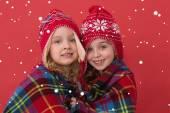 Festive little girls smiling — Stock fotografie