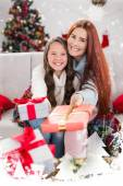 Festive mother and daughter — Stock fotografie