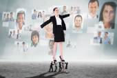 Business people supporting boss — Stock Photo