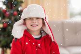 Festive little boy smiling — Foto Stock
