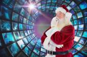 Santa is thinking about something — Stok fotoğraf