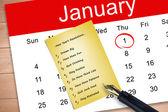 Résolution du nouvel an contre le carton jaune — Photo