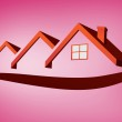 Red house roofs — Stock Photo #62481677