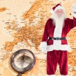 Jolly Santa waving at camera — Stock Photo #62481713