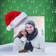 Composite image of young winter couple — Stock Photo #62481971
