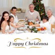 Children pulling a christmas cracker at home — Stock Photo #62482989