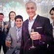Smiling team of business people honoring — Stock Photo #62484583