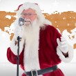 Santa Claus is singing Christmas songs — Stock Photo #62486319