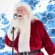 Santa Claus is singing Christmas songs — Stock Photo #62486337
