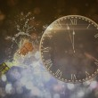 Composite image of clock counting down to midnight — Stock Photo #62487003